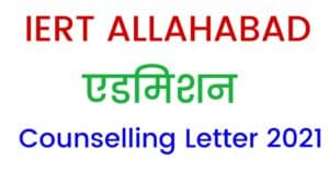 IERT 2021 Counselling Letter