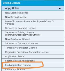 Search driving licence by name