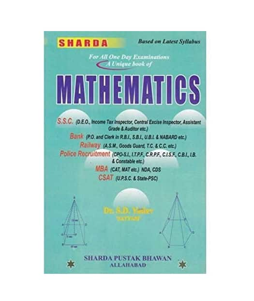 Sharda Mathematics By - Dr. SD Yadav