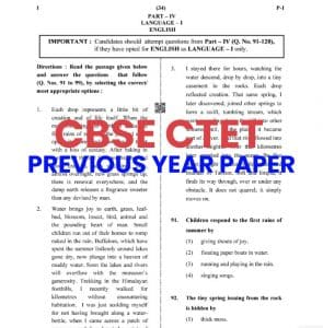 Cbse CTET Previous Year paper